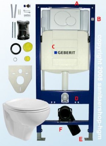 geberit duofix vorwandelement up320 v b wc wc deckel sanitaershop hgm. Black Bedroom Furniture Sets. Home Design Ideas