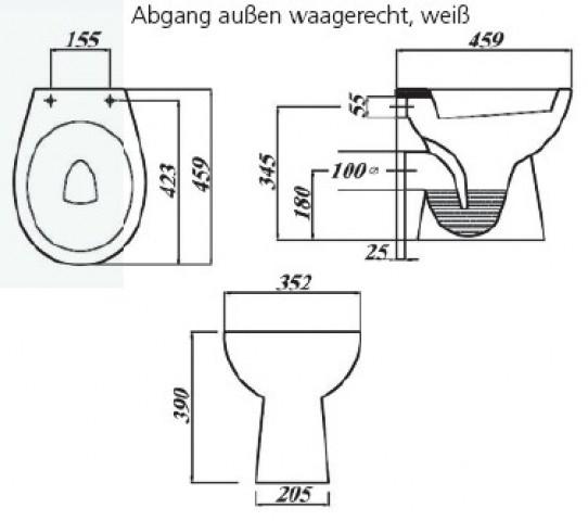 stand wc incl beschichtung deckel und kpl zubeh r sanitaershop hgm. Black Bedroom Furniture Sets. Home Design Ideas